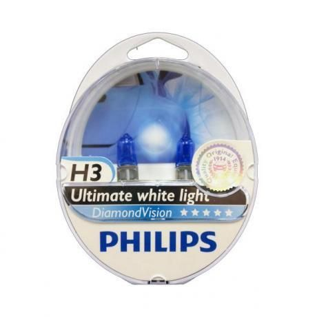 H3 Philips Diamond Vision 5000K Upgrade Headlight Bulbs (pair) 12v 55w