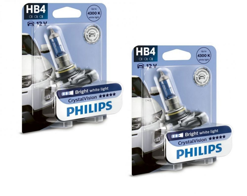 My Car Performance HB4 / 9006 Philips Crystal Vision 4300K Upgrade  Headlight Bulbs (pair) 12v 55w