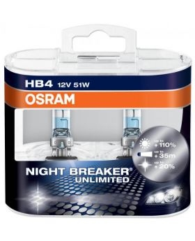 HB4 OSRAM Night Breaker Unlimited +110% 3600K 9006NBU