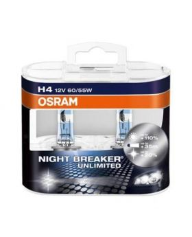 H4 OSRAM Night Breaker UNLIMITED +110% 4000K 64210NBU