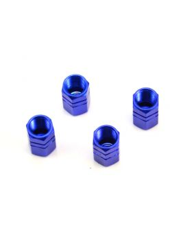 Alloy Tyre Dust Valve Caps - Blue