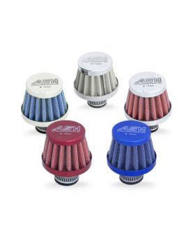Mini Oil Air Breather Crankcase Filter 25mm Anodised Blue