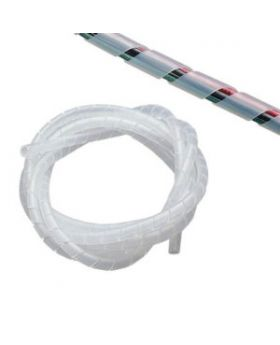 Clear Small Spiral Cable Management Wrap - Wire Tidy - 3mm-10mm Cable Diameter - Per Metre Price