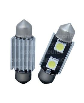 2xLED15 - 36mm Festoon - 2SMD 5050 Canbus 12V White