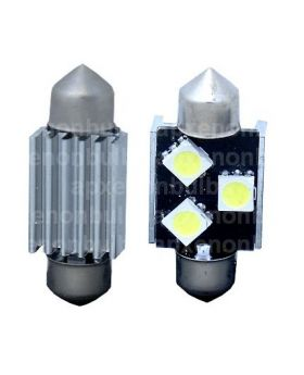 2xLED16 - 36mm Festoon - 3SMD 5050 Canbus 12V White