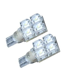 2xLED40 - T10-4Flux 1 Side 12V White