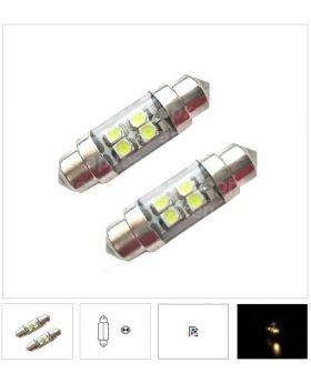 2xLED96 - T10x36mm-4SMD 1210 with tube 12V White