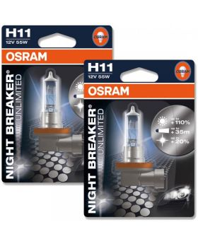 H11 OSRAM Night Breaker Unlimited +110% 3600K 64211NBU