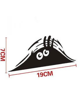 FUNNY PEEKING MONSTER CUTE EYES FOR JDM CAR BUMPER WINDOW VINYL DECAL STICKER