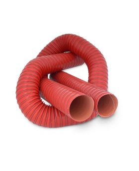 Silicone 2 Ply Air Ducting - 63mm - Red Air Intake Hose - 1 Metre