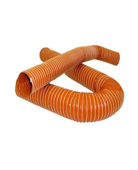 76mm Silicone 2 Ply Air Ducting - Orange Air Intake Hose / Brake Duct - 1 Metre
