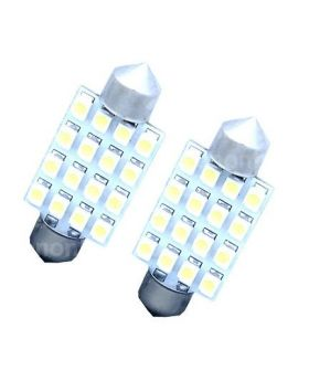 2xLED20 - 41mm Festoon - 16SMD 1210 Canbus 12V White
