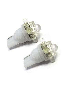 2xLED44 - T10-1Flux+4LED 12V White