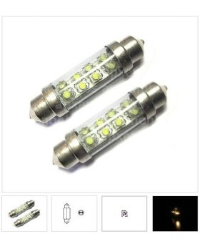 2xLED81 - T10x44mm-8LED 12V White