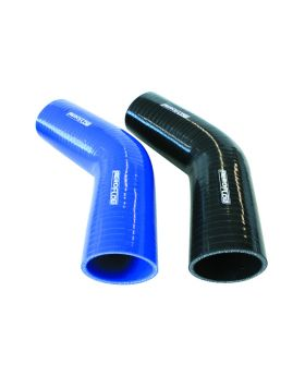 "102>76mm (3"") ID Black Silicone Hose 45 Degree Elbow Reducer"
