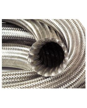 Stainless Steel Overbraid Rubber Fuel & Oil Hose - 10mm ID