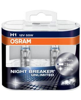 H1 OSRAM Night Breaker UNLIMITED +110% 3600K 64150NBU