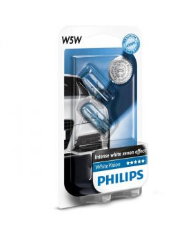 W5W / T10 Philips Blue Vision Ultra 3400K Upgrade Parking Bulbs (pair) 12v 5w