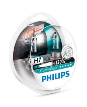 H7 Philips Xtreme Vision 130+ 3700K Upgrade Headlight Bulbs (pair) 12v 55w