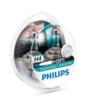 H4 Philips Xtreme Vision 130% 3700K Upgrade Headlight Bulbs (pair) 12v 60/55w