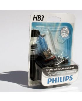 HB3 / 9005 Philips Crystal Vision 4300K Upgrade Headlight Bulbs (pair) 12v 65w
