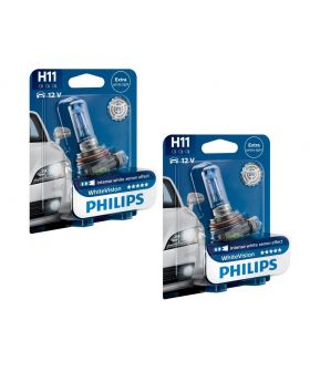 H7 Philips Crystal Vision Upgrade Headlight Bulbs (pair) 12v 55w