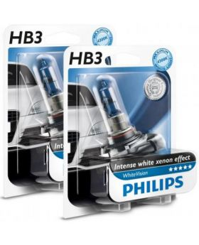 HB3 / 9005 Philips White Vision 3700K Upgrade Headlight Bulbs (pair) 12v 65w