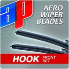 Front Pair AP Aero Flat Wiper Blades - 22 inch & 18 inch - AWB HOOK 22 - AWB HOOK 18