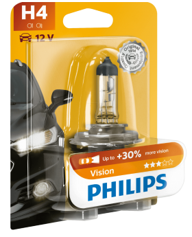 Philips Vision H4 (Single Blister)