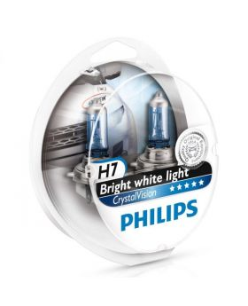 H7 Philips Crystal Vision 4300K Upgrade Headlight Bulbs (pair) 12v 55w