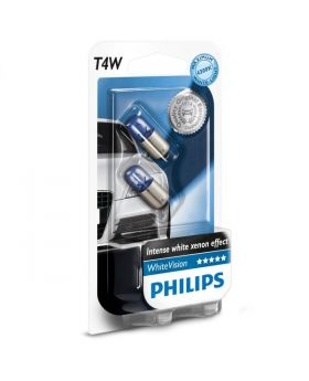 T4W Philips White Vision 4300K Upgrade Parking Bulbs (pair) 12v 4w