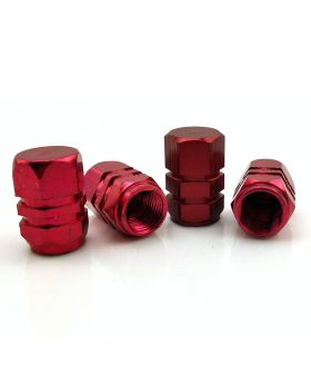 Alloy Tyre Dust Valve Caps - Red