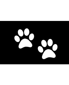 2x Dog Paw Sticker Decal Vinyl