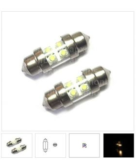 2xLED79 - T10x31mm-4LED 12V White